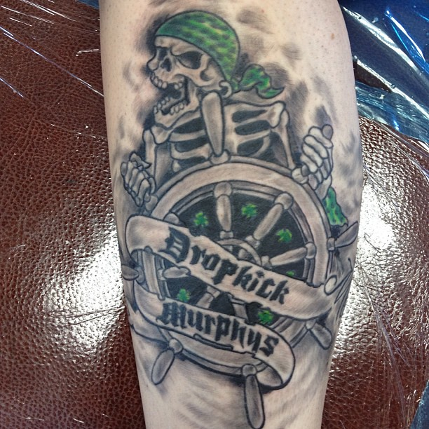johnnymcgee midwaytattoo tattoo dropkickmurphys sandiego 1 dropkick murphy 39 s done flickr. Black Bedroom Furniture Sets. Home Design Ideas