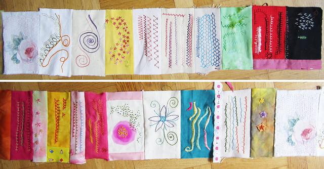 TAST ongoing stitch sampler