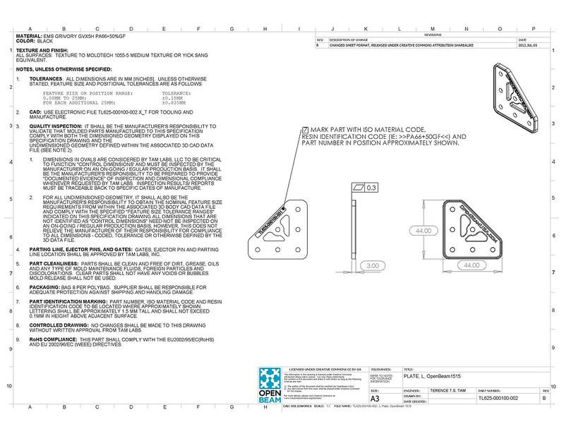 TL625-000100-002-B - L Plate