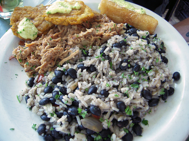 Pork Plate with Yummy Rice & Beans
