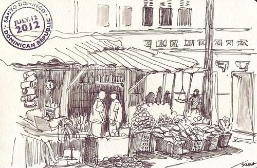 USK: Vegetable market behind Mercado Modelo, Santo Domingo, Dominican Republic