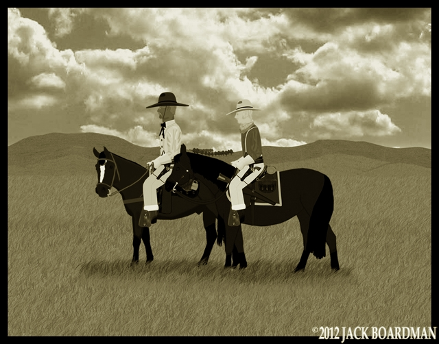 Mac & Larry on the Nebraska Plains ©2012 Jack Boardman