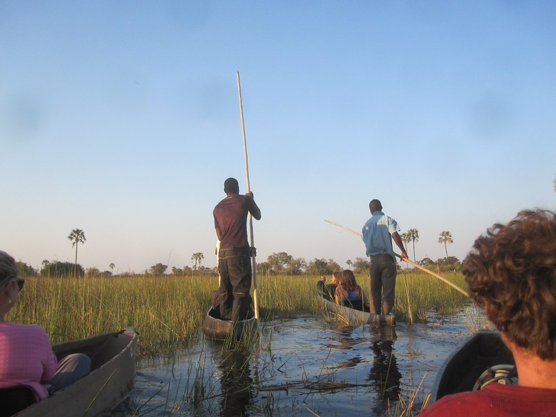 Okavango Delta Botswana Boats Africa