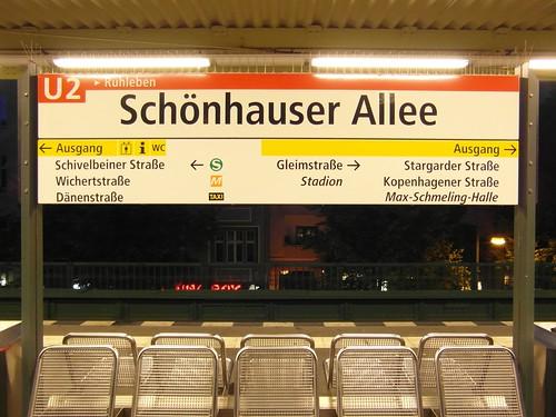 Berlin - U-Bahnhof Schönhauser Allee - Linie U2
