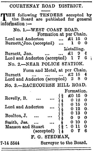 Roading board Lord and Anderton Press 14 July 1873