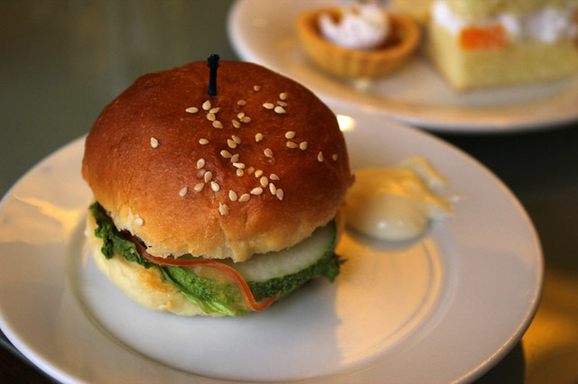 Club Lounge - Pan-fried Wasabi Burger with Sesame Bun