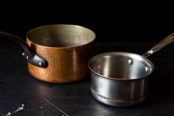 Sizes of saucepans