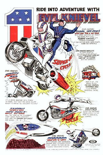 Evel Knievel Classic Comic Ad