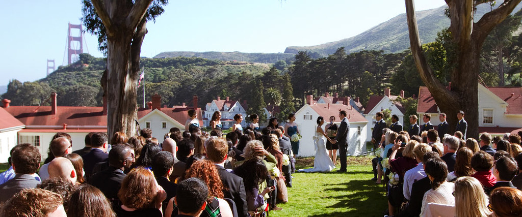 Wedding couple, Cavallo Point Lodge