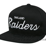 Vintage Snapbacks Mitchell Ness Vintage Oakland Raiders Snapback Hats Caps Black