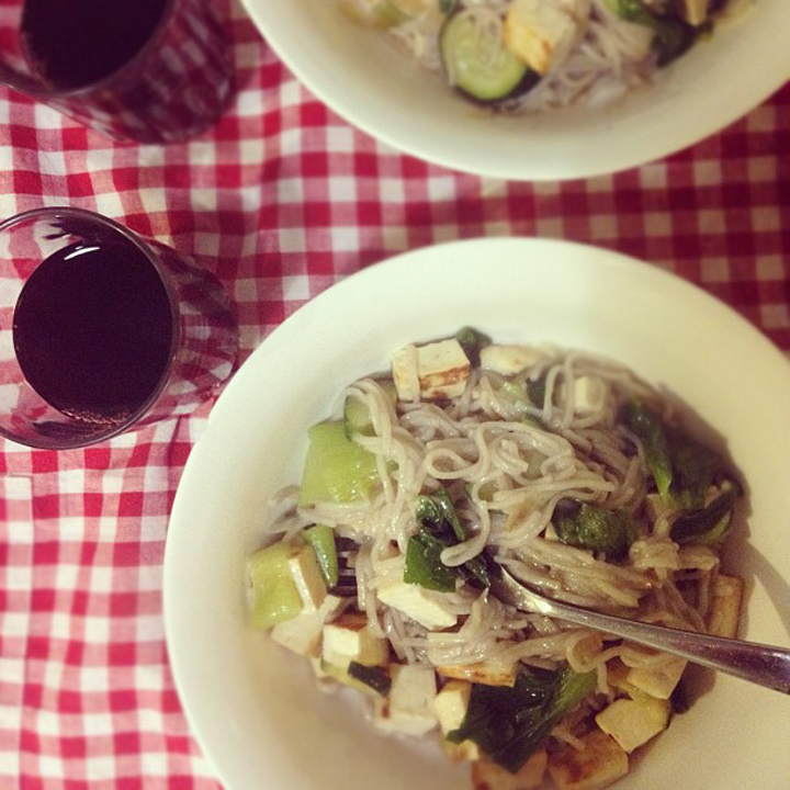 laneway_esme instagram gingham tofu food