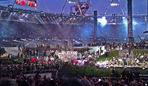 Olympic Stadium rehearsal of Opening Ceremony.