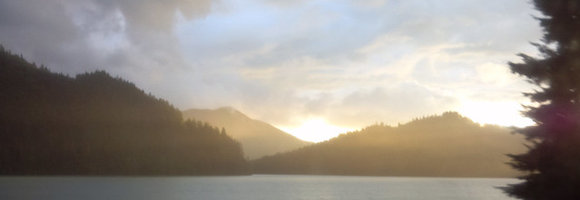 Alder Lake at Sunset