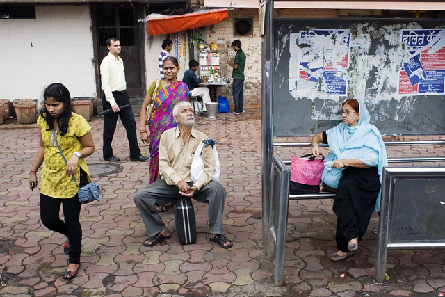Bus Stand - 35 Fantastic Color Street Photographs
