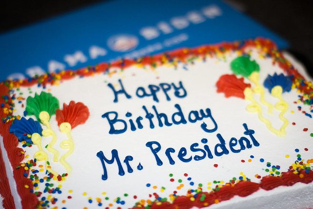 Happy birthday, Mr. President