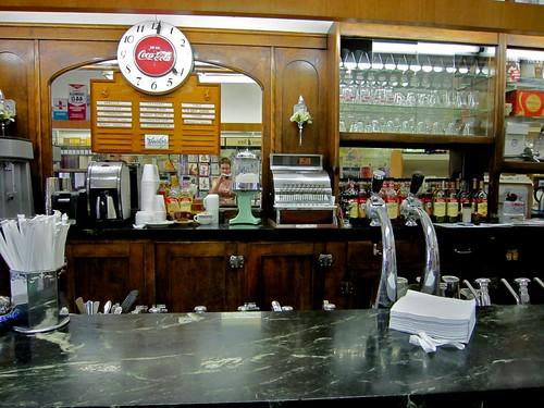 Adams & Bright Pharmacy and Soda Fountain Detail