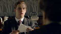 Matthew Crawley receives a letter from Lord Grantham
