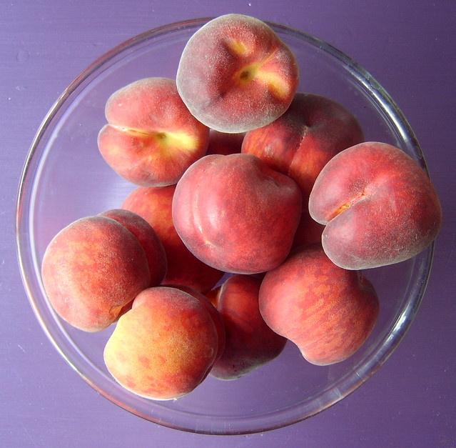 peaches harvest