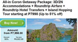 3D/2N Coron Getaway Package Promo