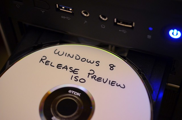 Installing Windows 8 Release Preview.