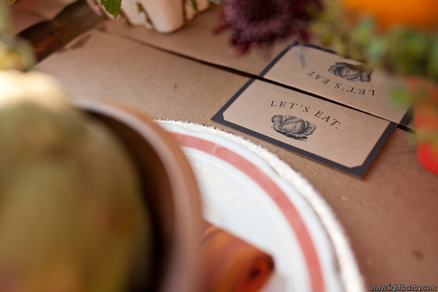 farmers market wedding place mat