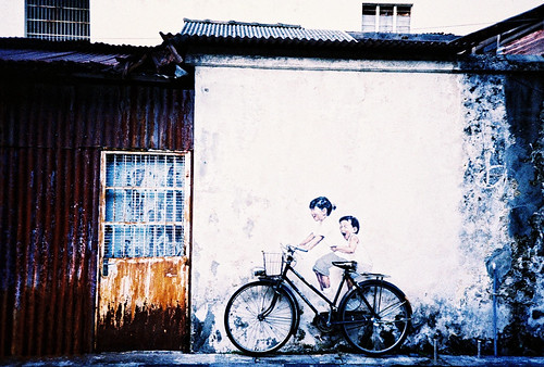 Kids on a bicycle, Georgetown, Penang