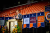 President Jay Gogue speaks at Convocation