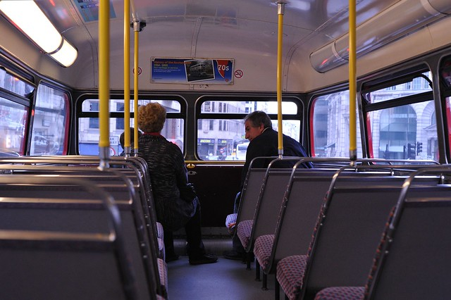 Inside of the double-decker bus | Flickr - Photo Sharing!