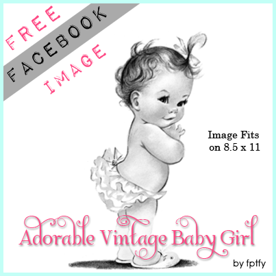 Free Vintage Baby Girl by FPTFY