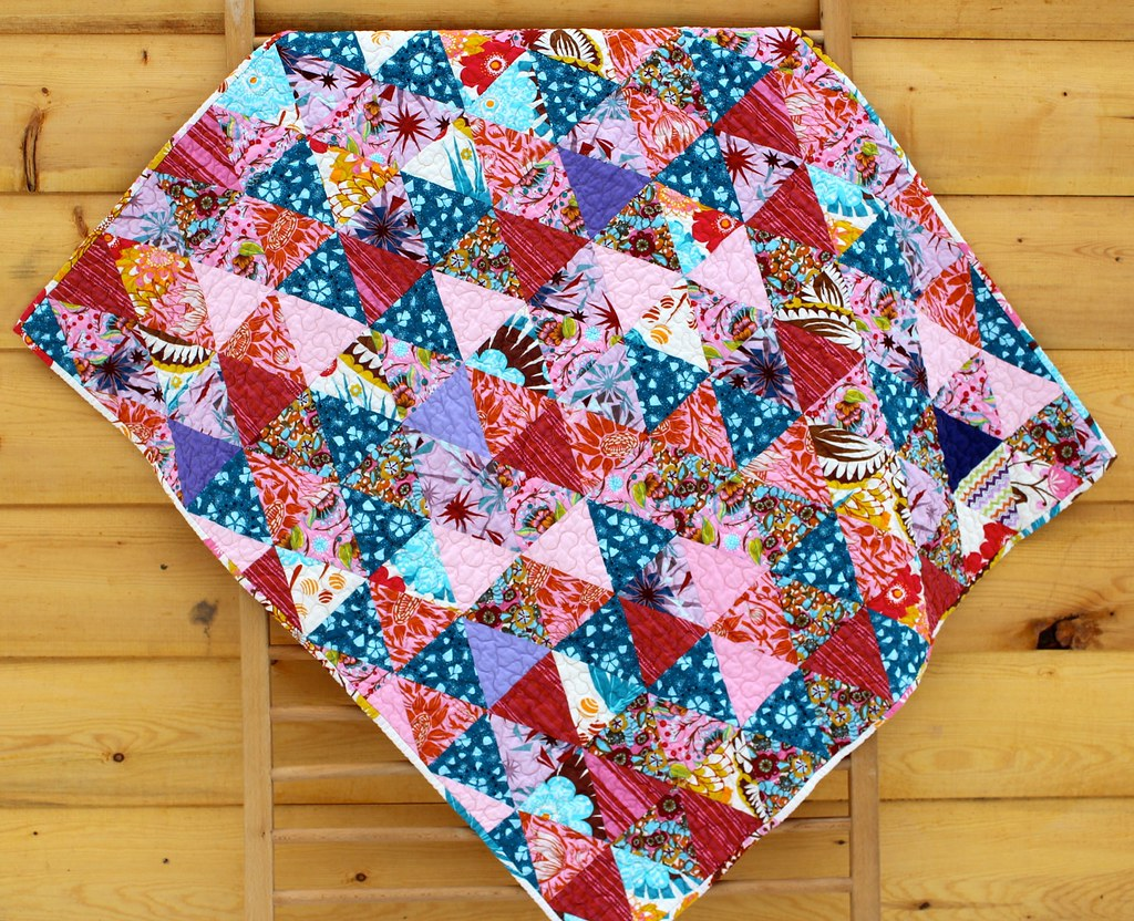 Anna Maria Horner Triangles Baby Quilt