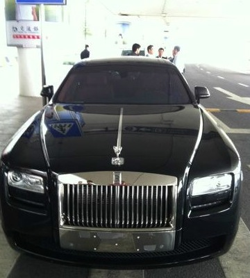 October 24th, 2012 - a Rolls Royce takes Tracy McGrady from the Qingdao airport to his hotel