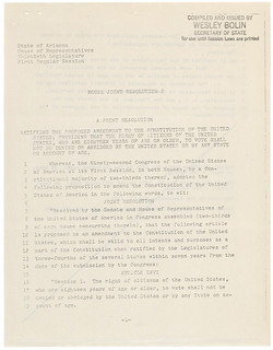 Arizona's Ratification of the 26th Amendment, 05/26/1971 (page 2 of 3)