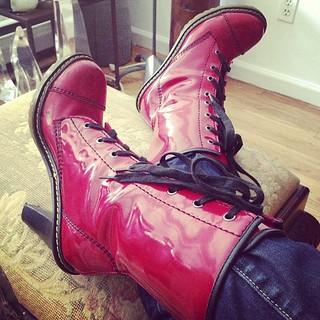 My wedding boots. Still kicking.