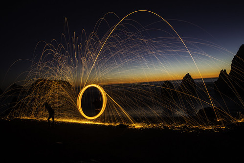 Rodeo Beach Light Painting