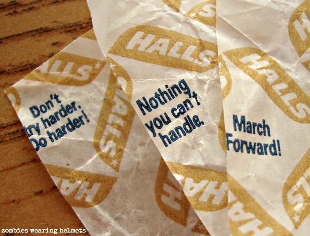A pep talk in every wrapper