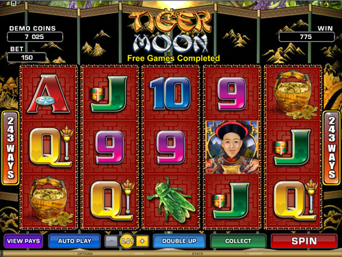 Tiger Moon Free Spins Prize