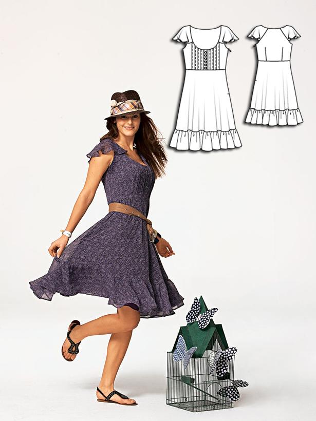 Women's dress sewing pattern 110A 052010