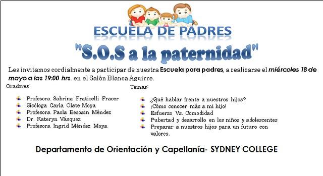 """Escuela para Padres """"S.O.S a la paternidad"""""""