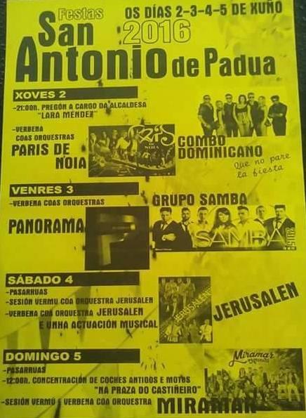 Lugo 2016 - Festas de San Antonio de Padua - cartel
