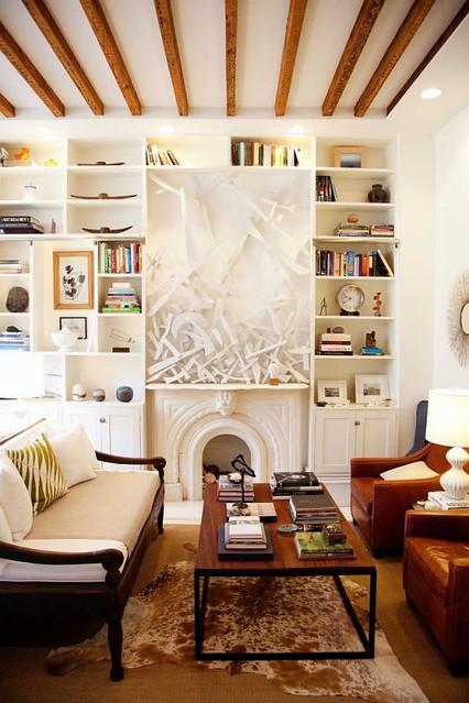 white and wood interior