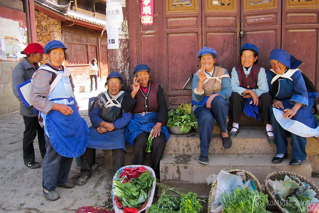 Naxi Ladies in Baisha Town