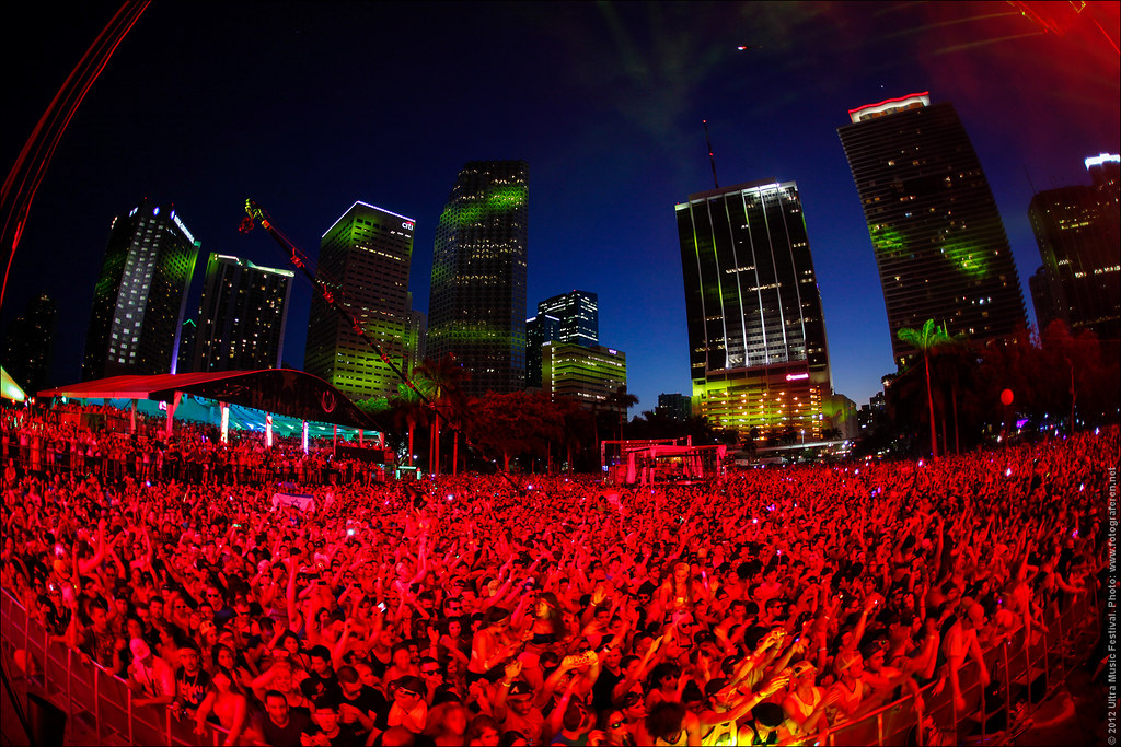 35. What a setting, Ultra Music Festival 2012 in downtown Miami!