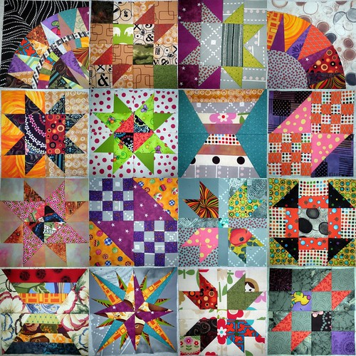 2012 BOM's - 16 blocks made so far - all from my scraps!
