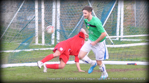 Cliffe FC 2 - 1 Thorpe Utd 11Apr12