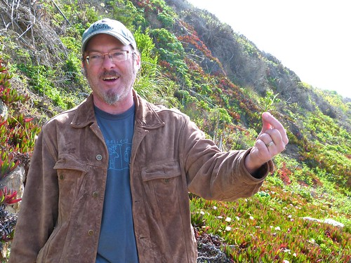 Hank holding wild radish rabe
