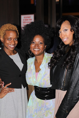 Abiola Abrams and Christen Rochon at the Black Enterprise Magazine Party