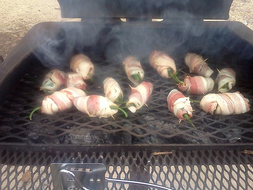 Stuffed jalapeños wrapped with bacon.  This tasty dish is great way for meat-lovers to get a spicy vegetable fix.  Photo courtesy Robert Dovel, AMS Livestock and Seed Program