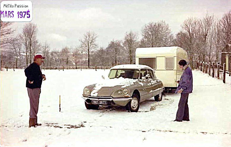 chutes de neige de mi mars 1975 météopassion
