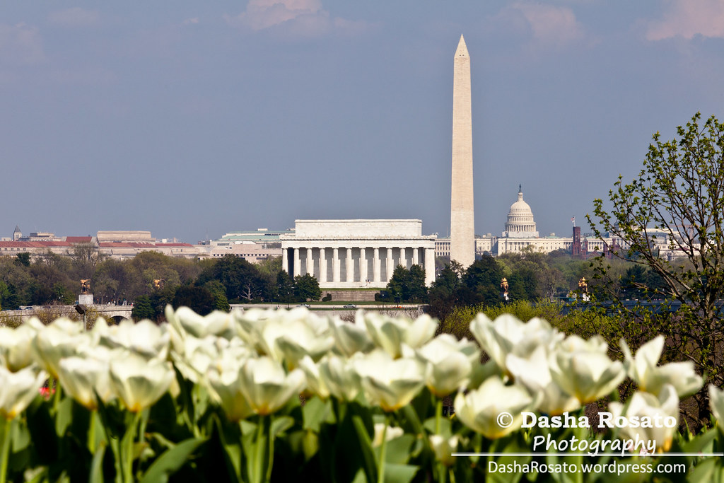 Washington DC Skyline with Lincoln Memorial, Washington Monument and the Capitol