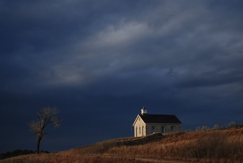 Light on Prairie Schoolhouse  by Get The Flick